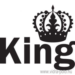 King – Queen páros póló King pólója