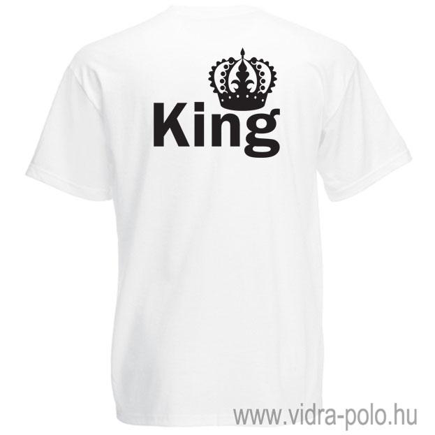 b9d8a13e88 King – Queen páros póló King pólója – Vidra póló